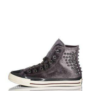 Rare Converse All-Star Studded Velvet High Tops